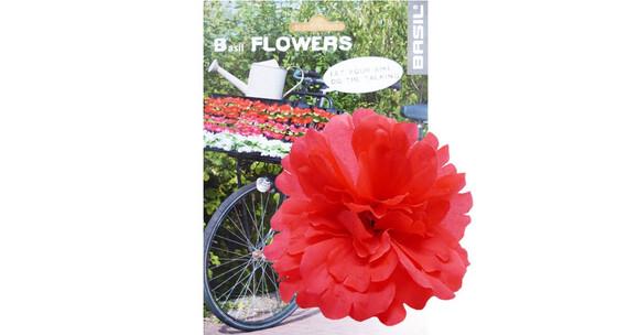 Basil Flower Peony na kierownicę i ramę czerwony
